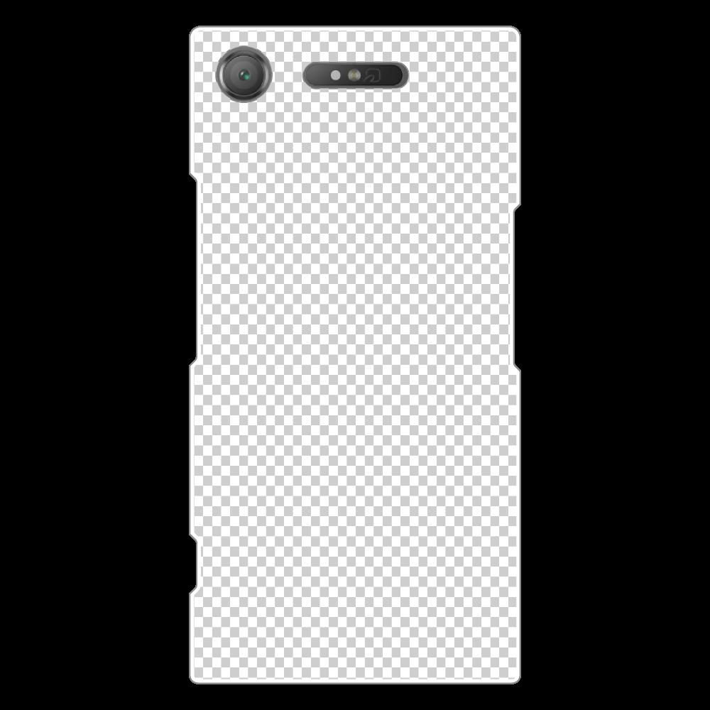 透過 Androidケース Xperia XZ1(SO-01K) Xperia XZ1(SO-01K)(白)
