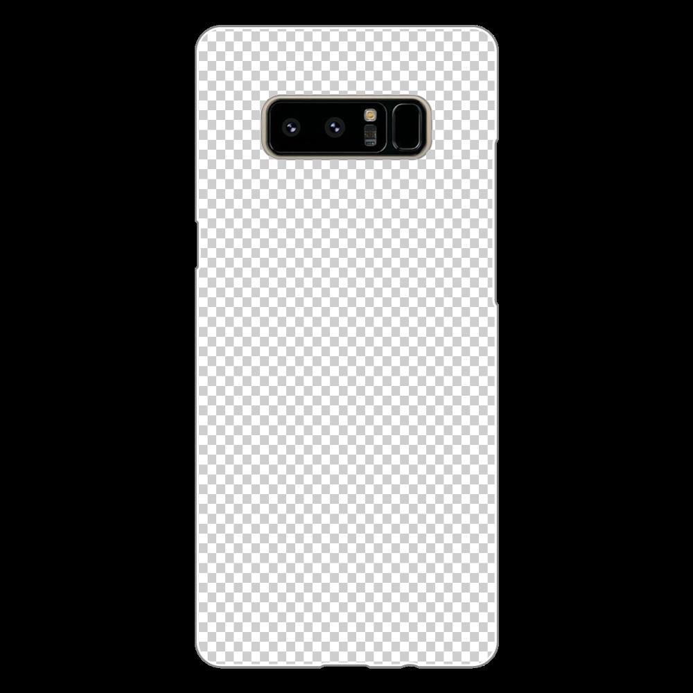 透過 Androidケース Galaxy Note8 Galaxy Note8(白)