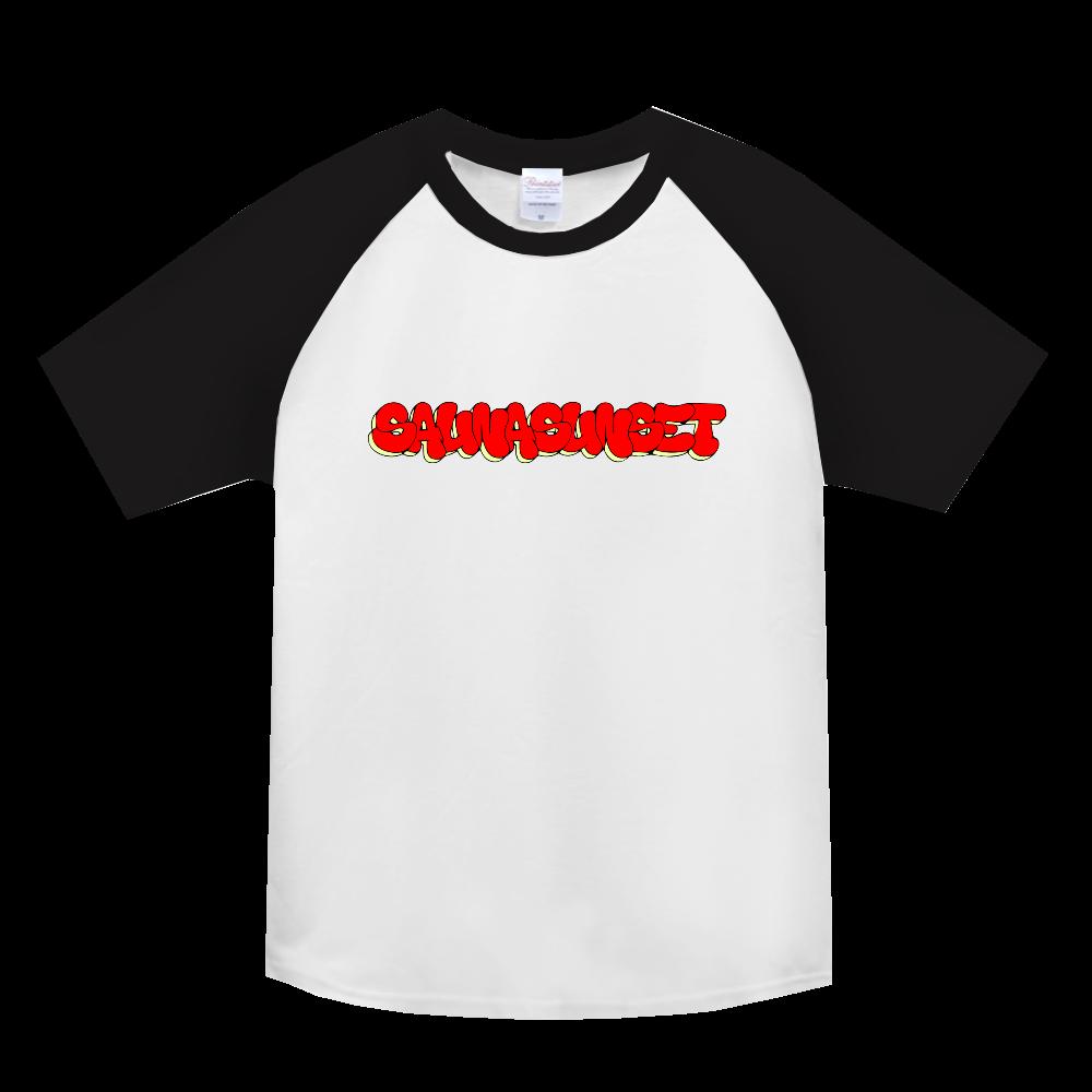 SAUNASUNSET ヘビーウェイトラグランTシャツ