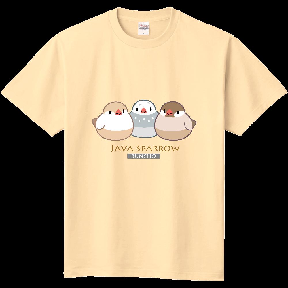 文鳥Tシャツ(色変わり・枠付き) 定番Tシャツ