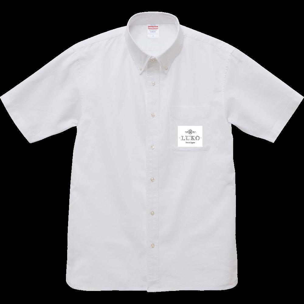 オックスフォードボタンダウンショートスリーブシャツ OX ホワイト ブティックルコ オックスフォードボタンダウンショートスリーブシャツ