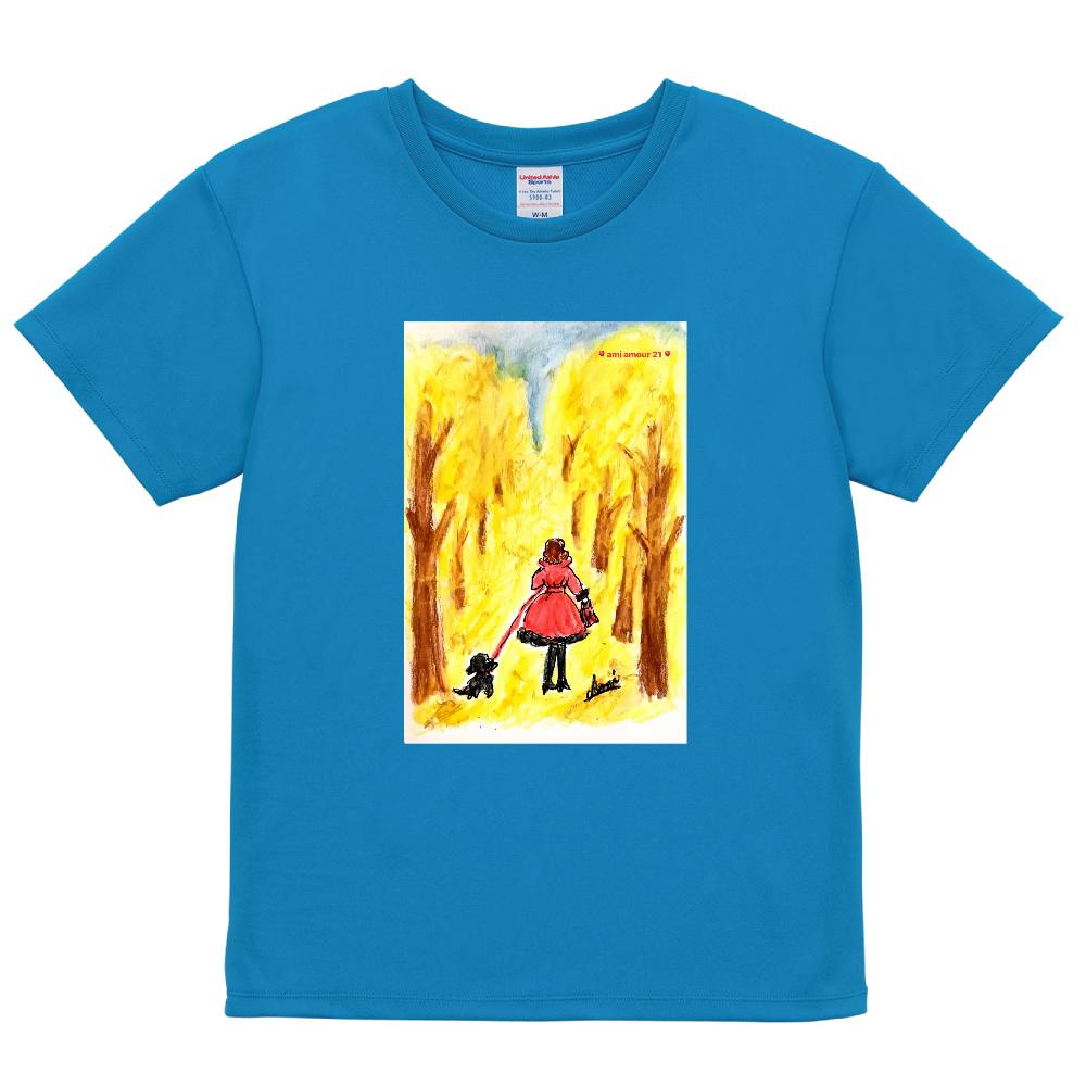 「赤いコート」レディースCタイプ ドライアスレチック Tシャツ〈ウィメンズ〉