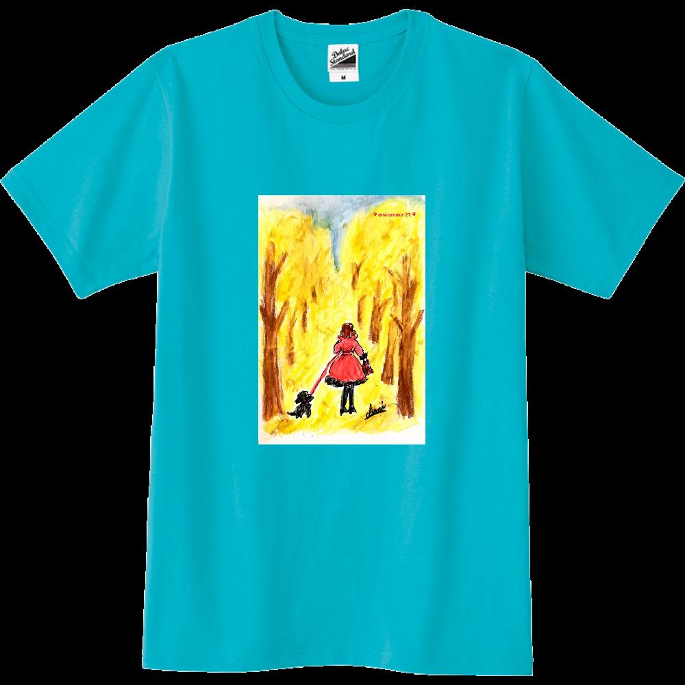 「赤いコート」男女兼用スリムタイプ スリムTシャツ