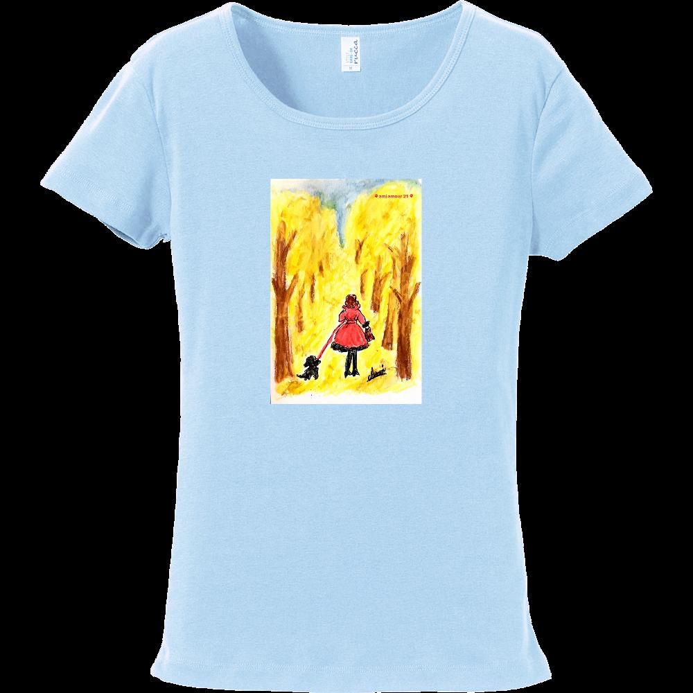 「赤いコート」レディースAタイプ フライスTシャツ