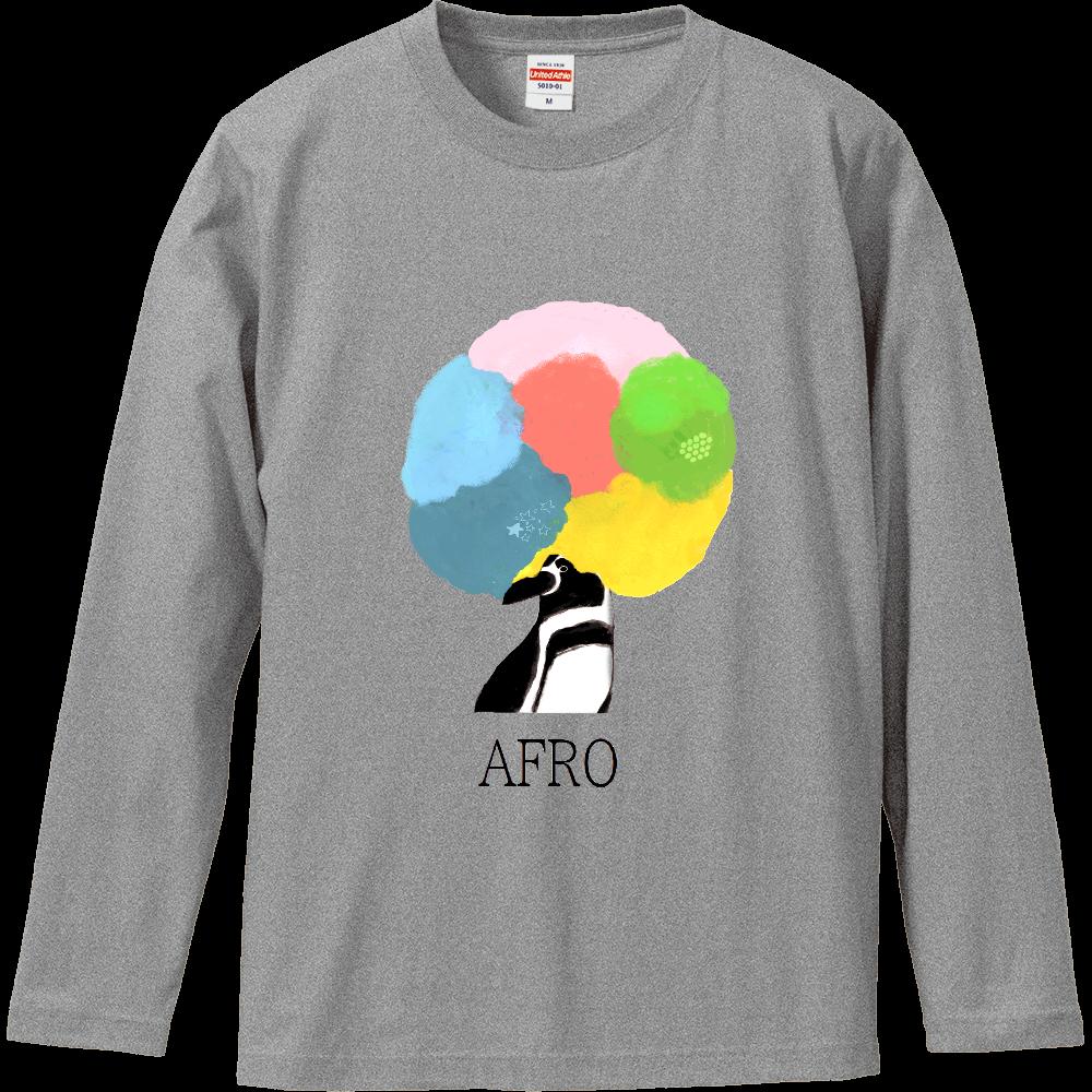 アフロペンギン ロングスリーブTシャツ