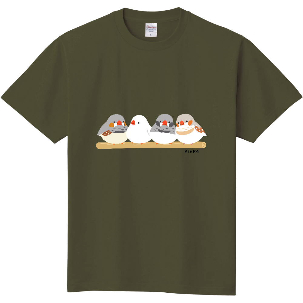 キンカチョウTシャツ 定番Tシャツ