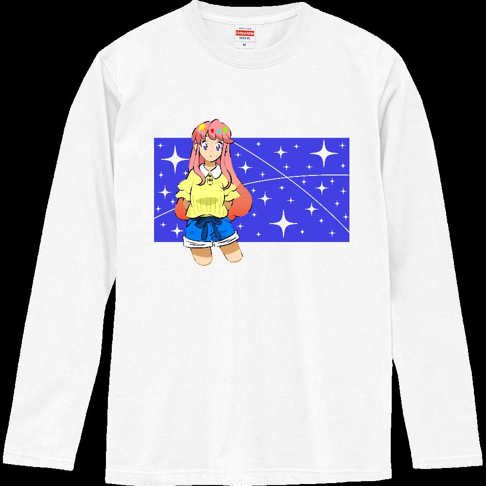 キラキラ光る星 ロングスリーブTシャツ