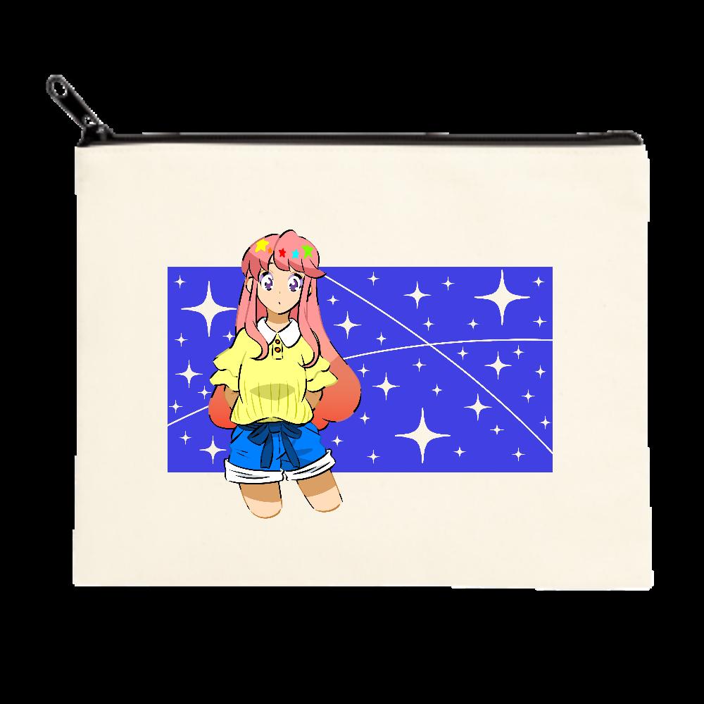 キラキラ光る星 ポーチ(M)