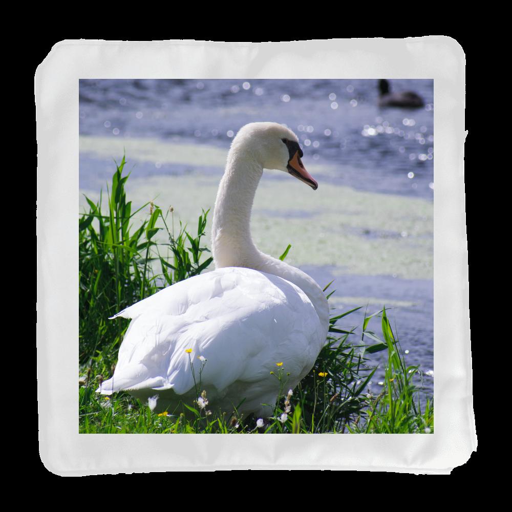 白鳥 クッションカバー(小)カバーのみ ホワイト クッションカバー(小)カバーのみ