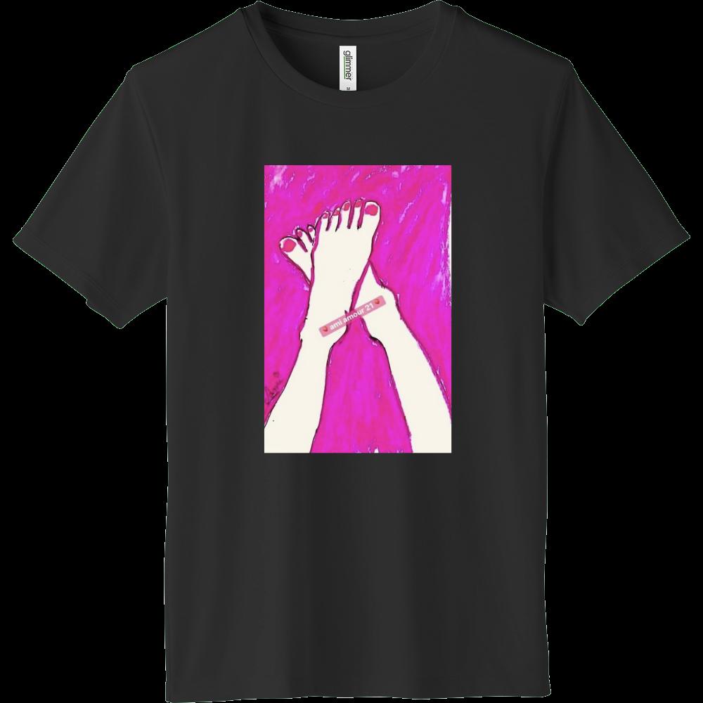 「恋するピンク」少し長め インターロックドライTシャツ