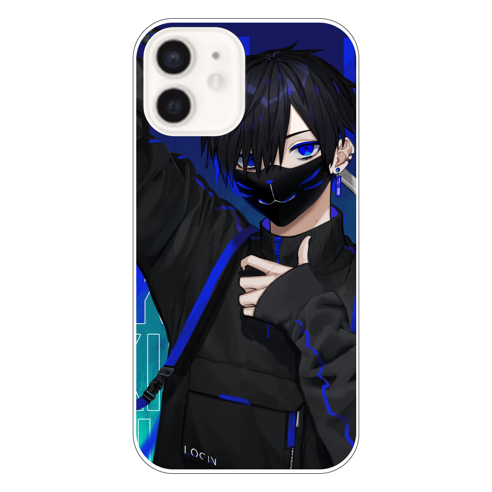 KILLER BOY (青)スマホケース iPhone12(透明)