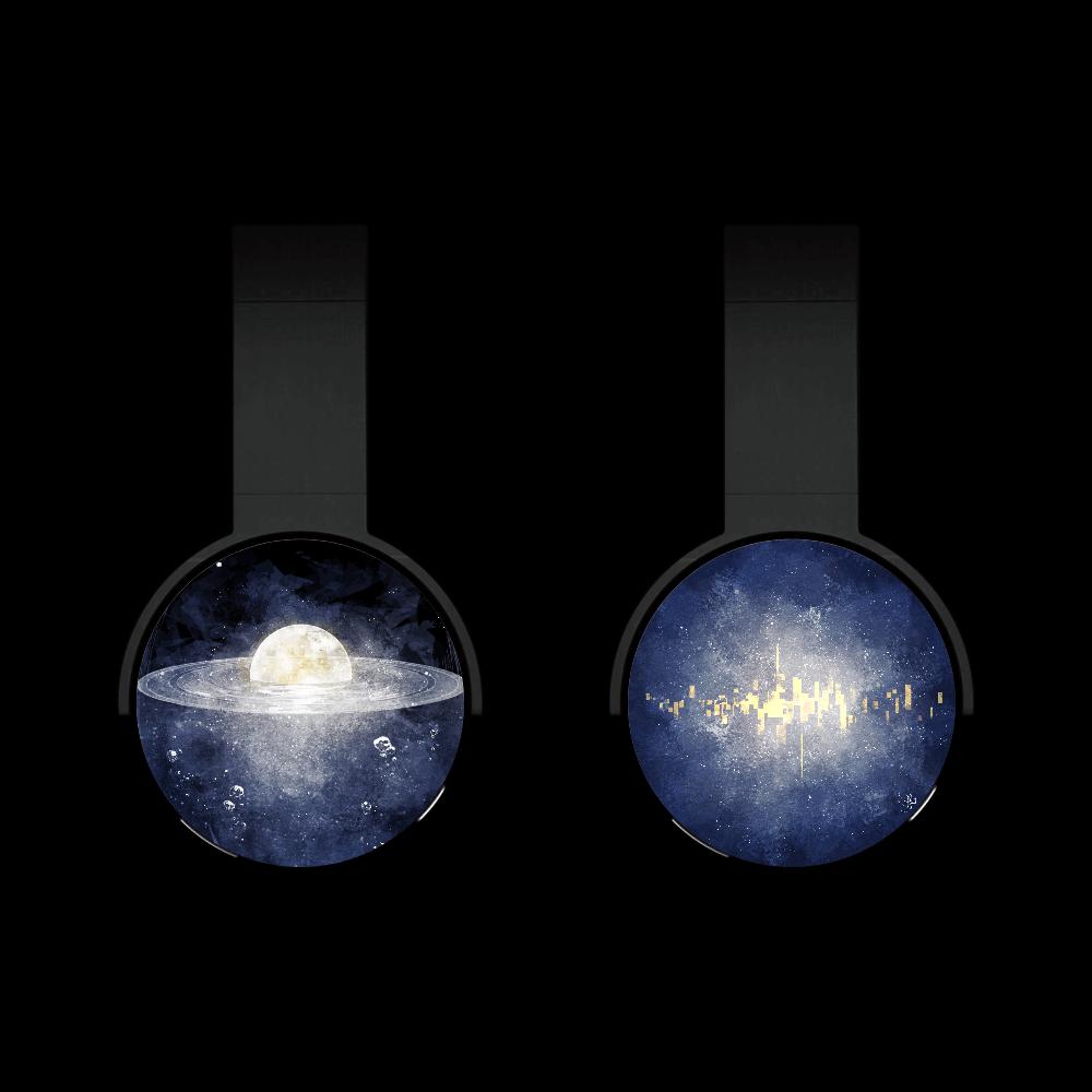 満月ヘッドホン Bluetoothヘッドフォン