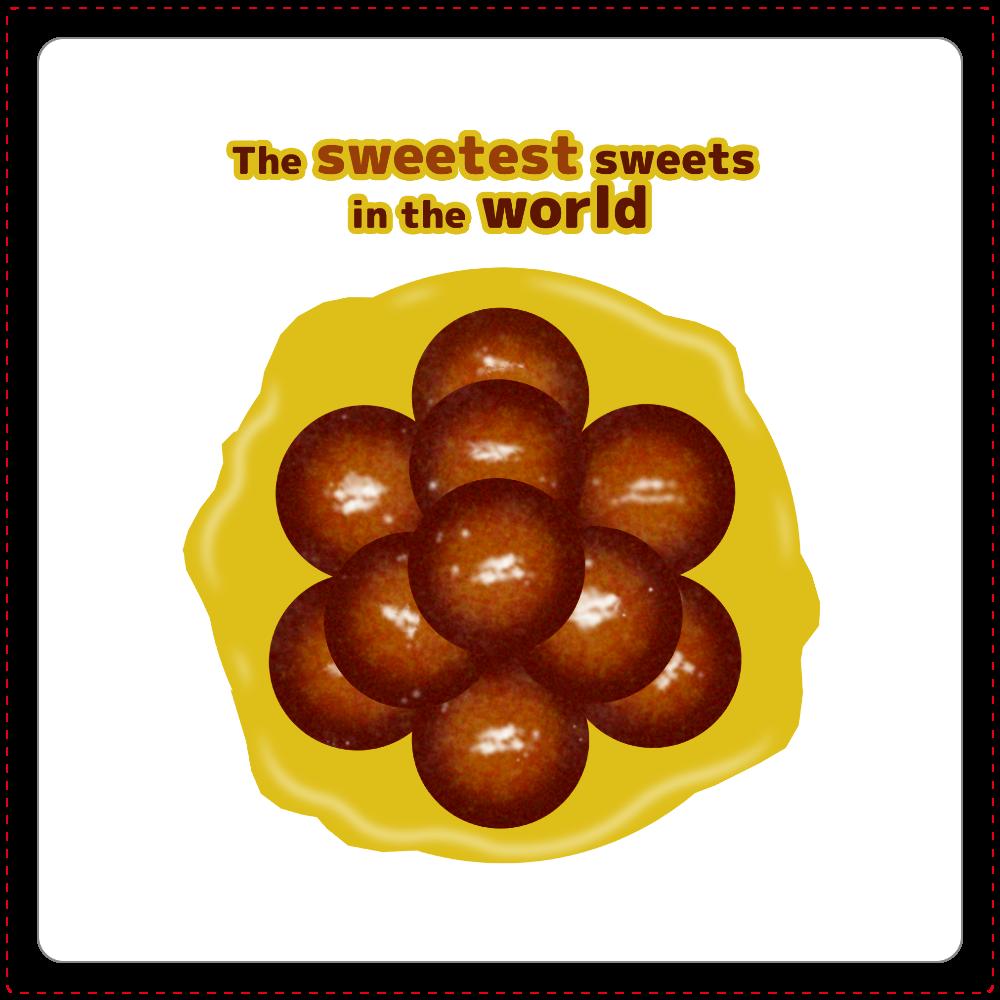 世界一甘いお菓子 コースター 白雲石コースター 四角