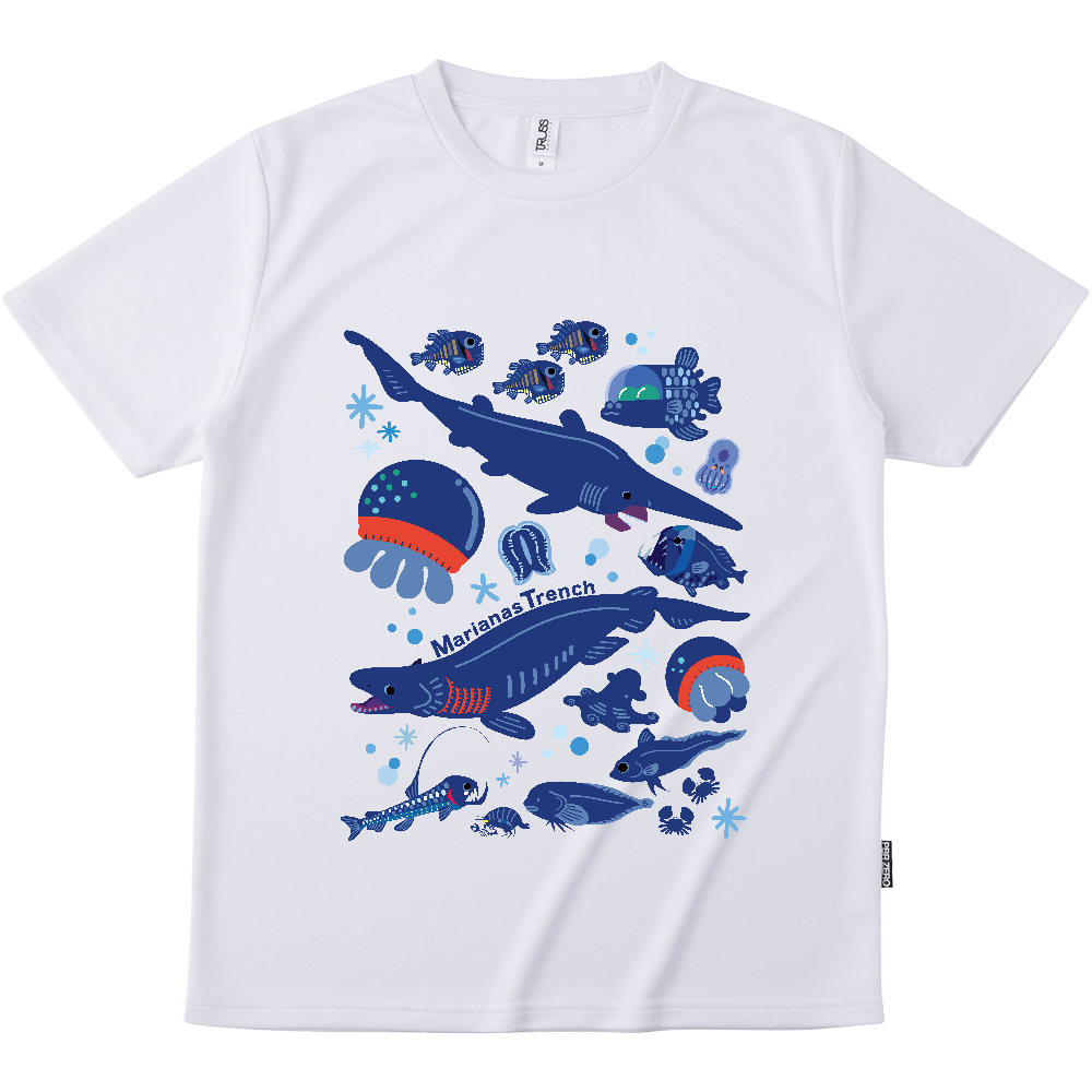 マリアナ海溝の深海生物 リサイクルポリエステル Tシャツ