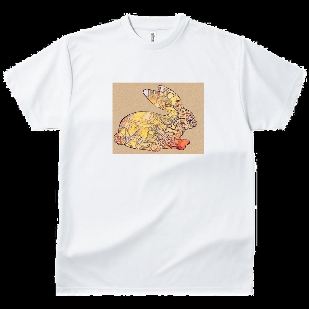 うさぎ ドライTシャツ