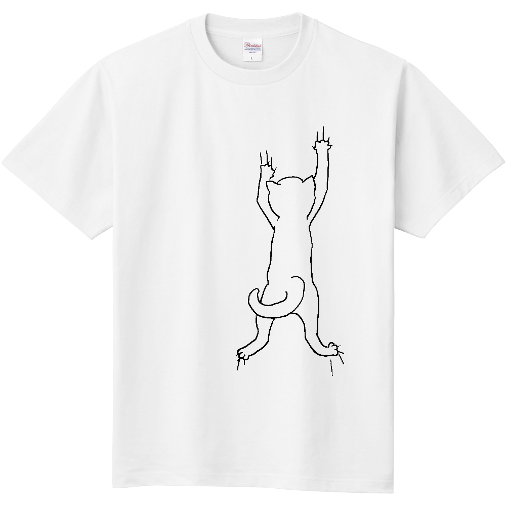 ニャンコずりずりずり~ 表面のみデザイン有 定番Tシャツ