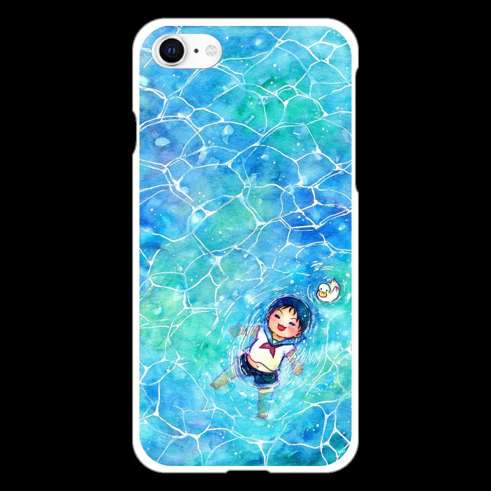 水面ぷかぷかスマホケース iphoneSE2(透明)