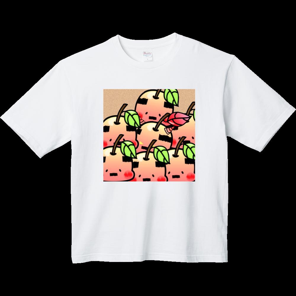おやじりんご たくさんいる ヘビーウェイト ビッグシルエットTシャツ