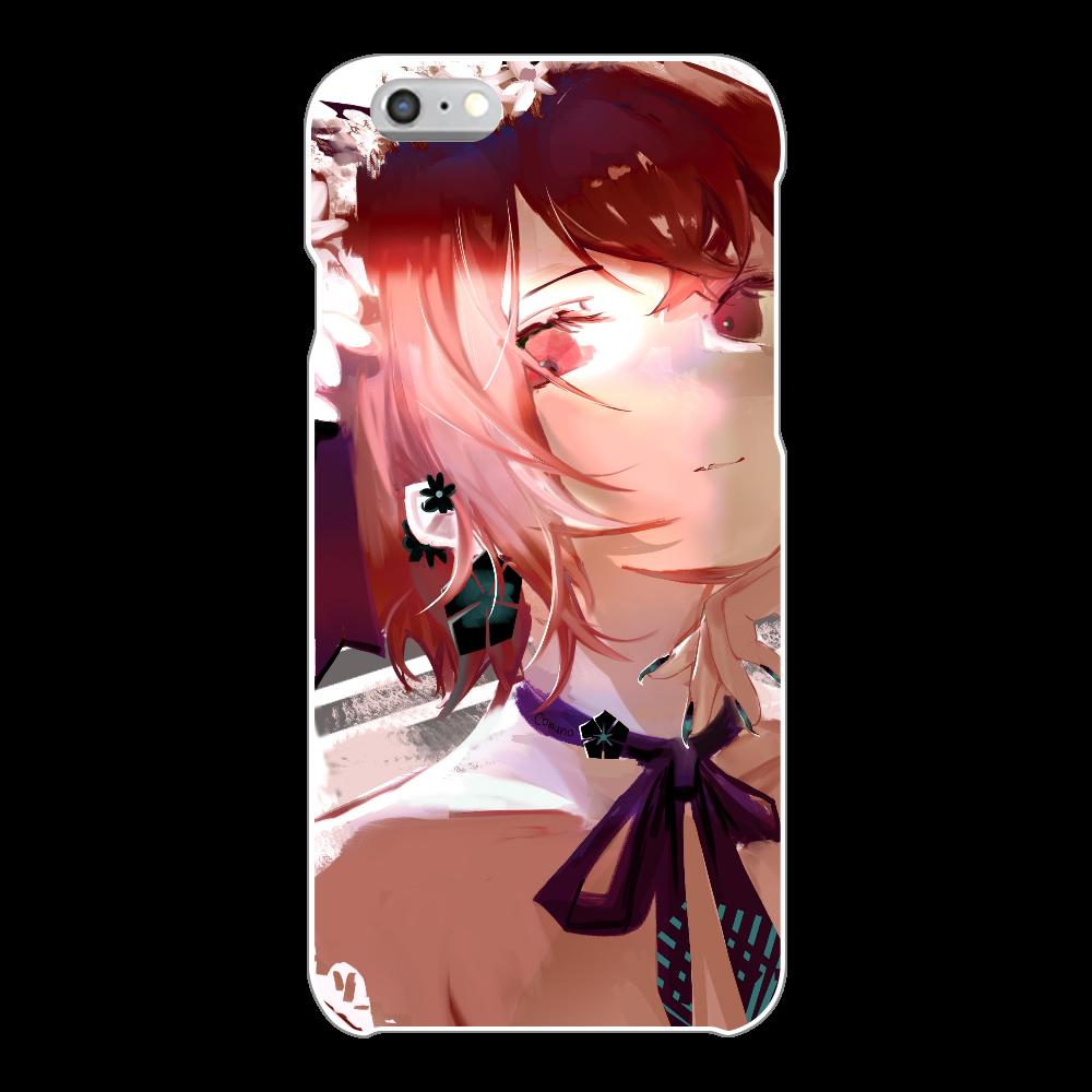 耳飾り スマホケース iPhone6/6s(透明)