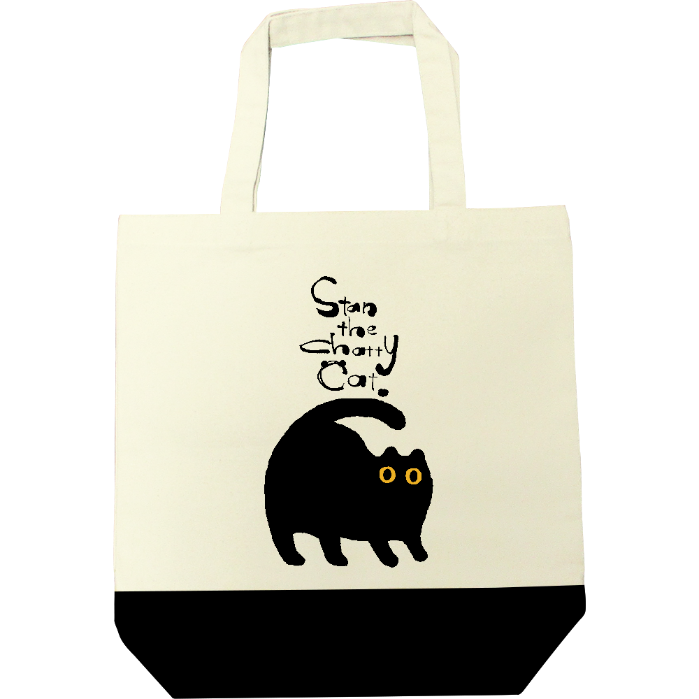 Stan The Chatty Cat キャンバスツートントートバッグ(M)