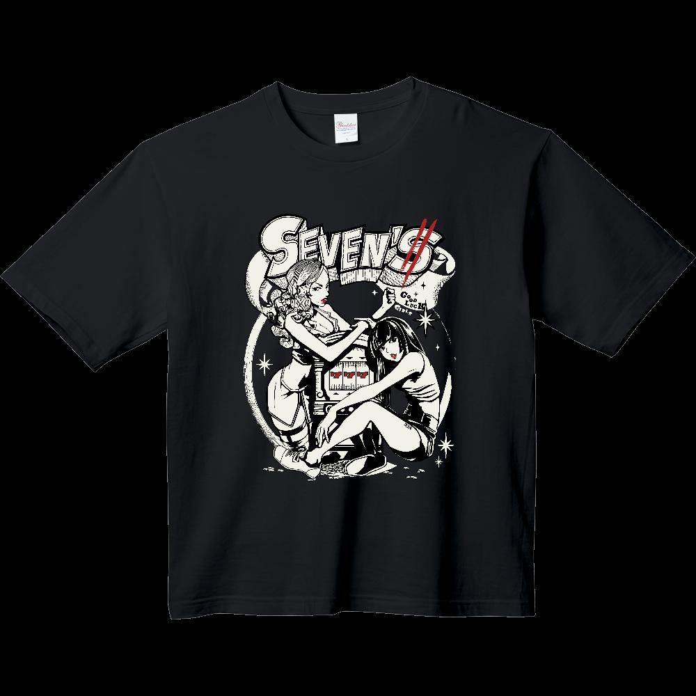 グットラックガールズ(黒ベース) ヘビーウェイト ビッグシルエットTシャツ