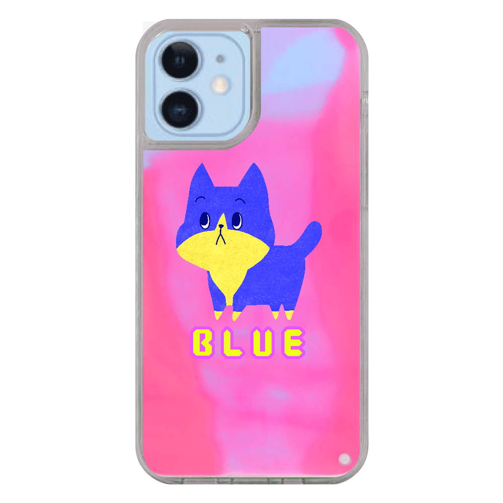 ViViVi Cat's -Blue The Chubby Cat-  iPhone12/12pro ネオンサンドケース
