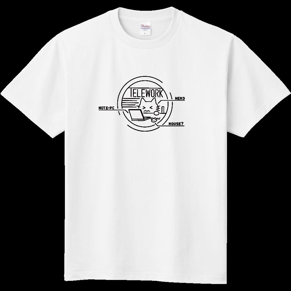 テレワークねこ 定番Tシャツ