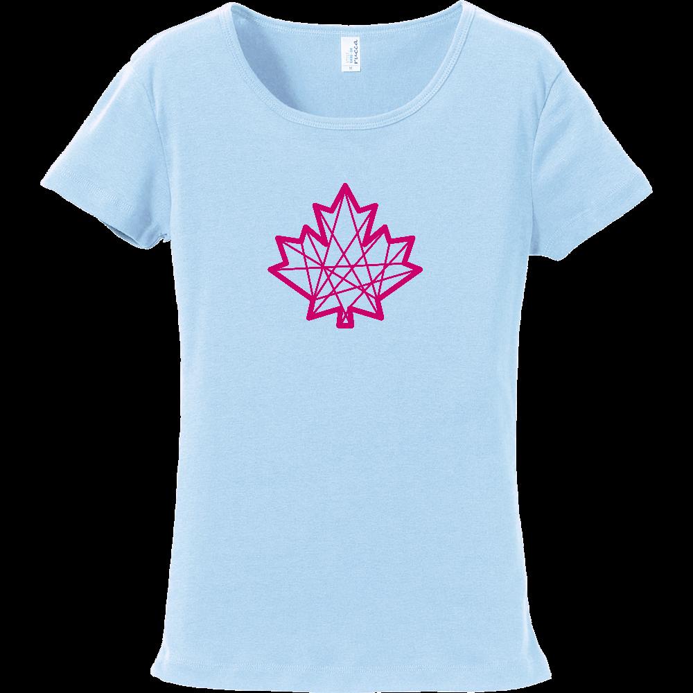 メープル【女性用スリムTシャツ】11色から選べる フライスTシャツ