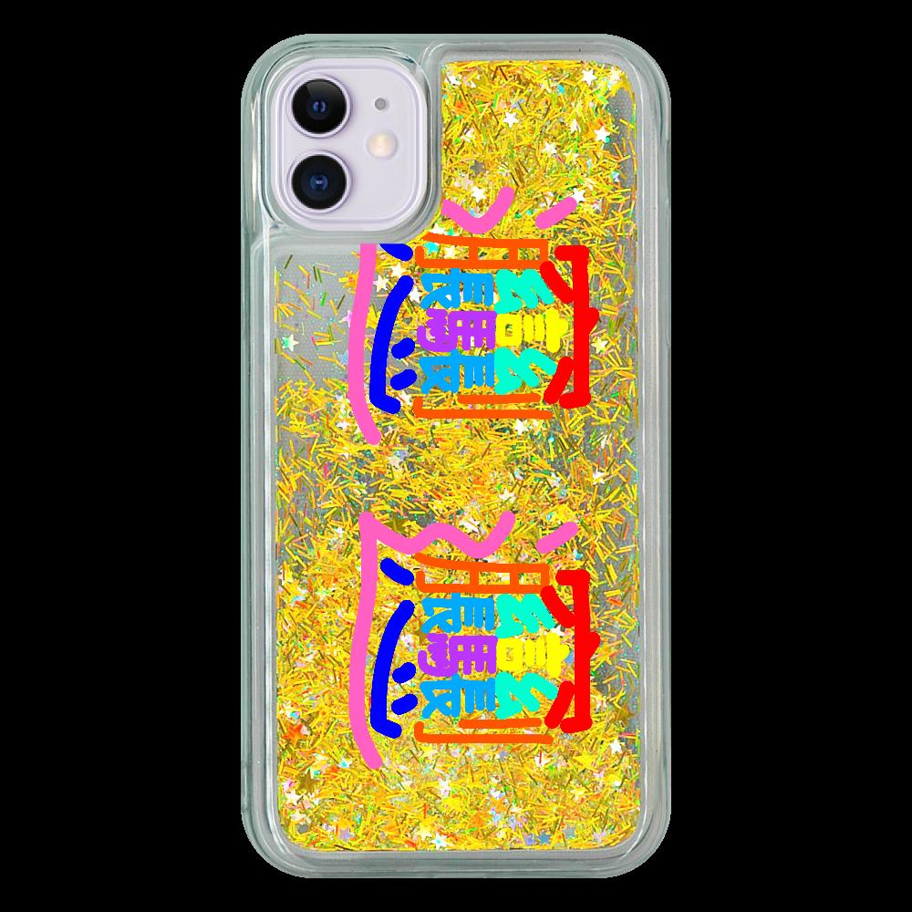 びゃんびゃんiPhone11 iPhone11グリッターケース