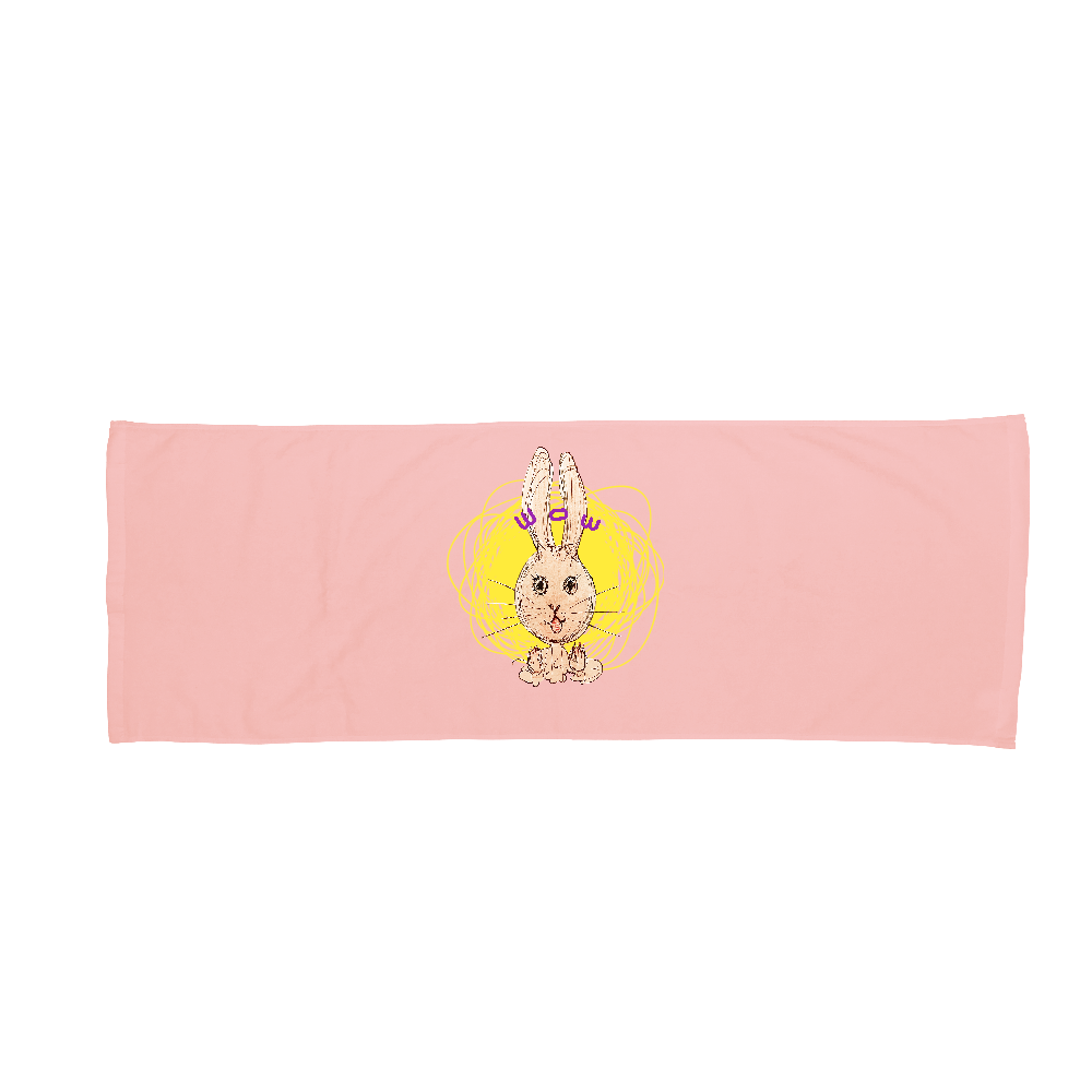 ウサギのびっくりポン! バスタオル