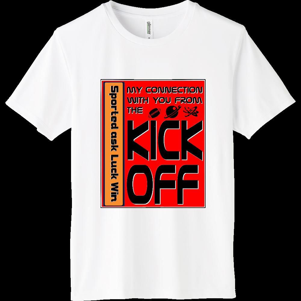 KICK OFF Orange インターロックドライTシャツ