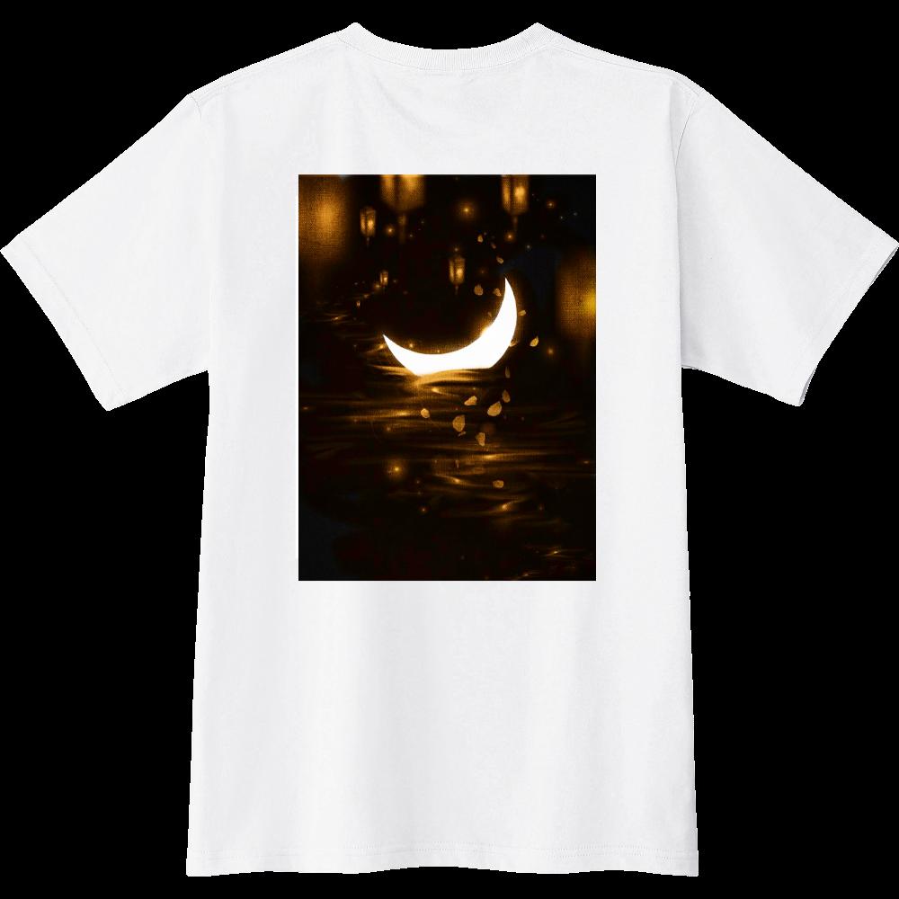 三日月Tシャツ(バックプリント) スリムTシャツ