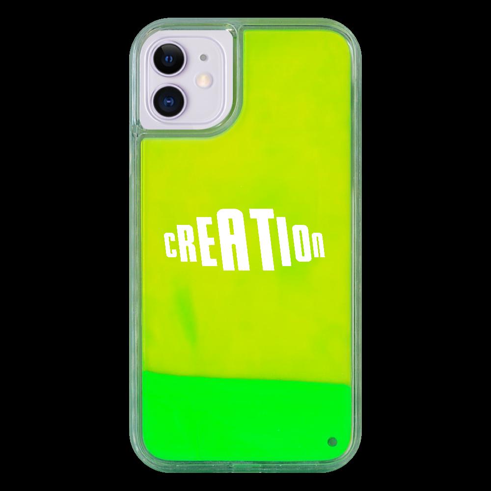 ネオンサンドケース 創生の第一歩 iPhone11 ネオンサンドケース
