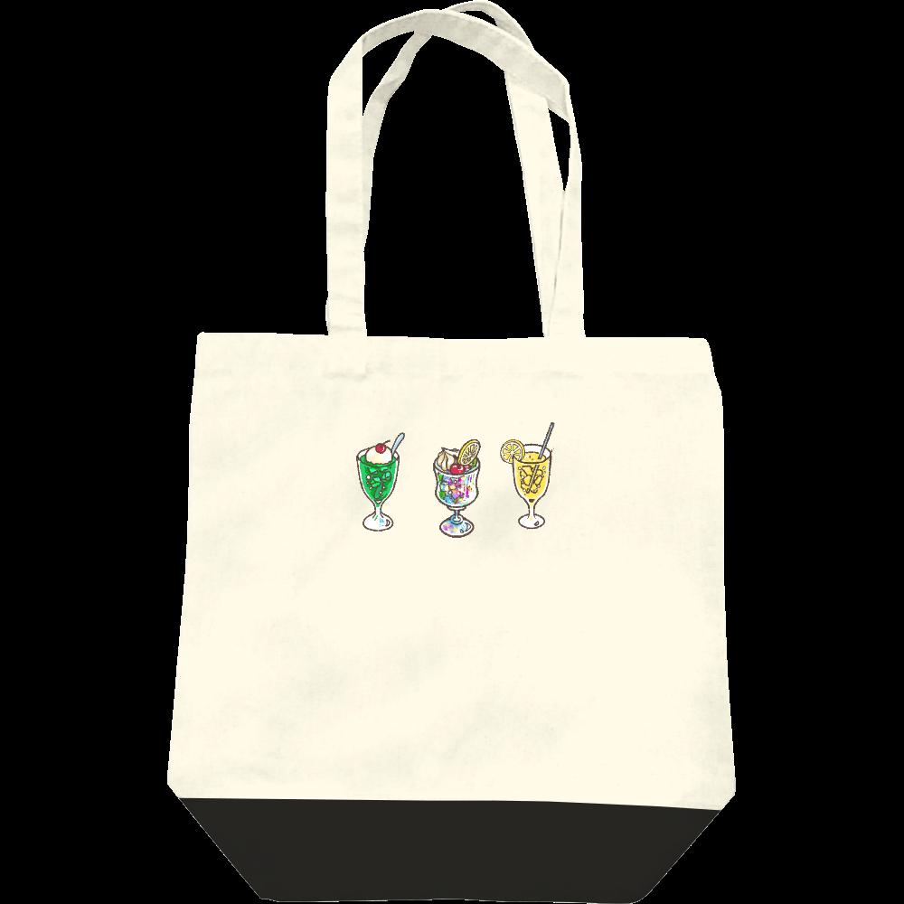 純喫茶ブルーラビット ドリンク3種+横ロゴ キャンバストート レギュラーキャンバストートバッグ(M)