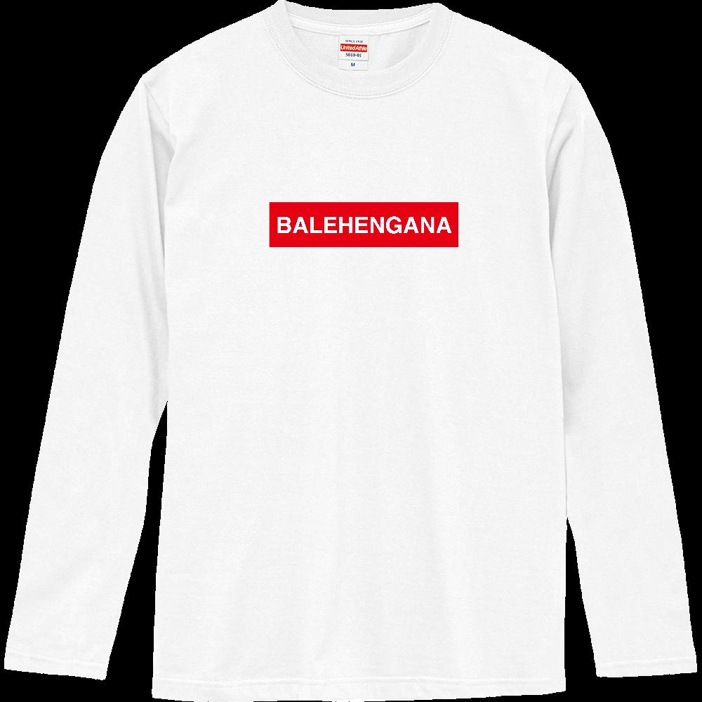 BALEHENGANA 赤ボックスロゴ ロングスリーブTシャツ