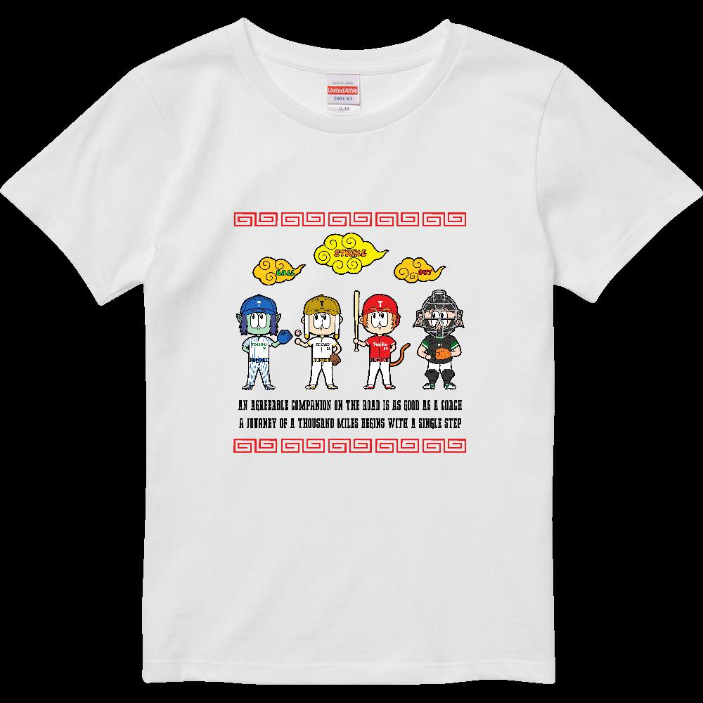 チーム天竺 ~西遊記×野球~ ハイクオリティーTシャツ(ガールズ)