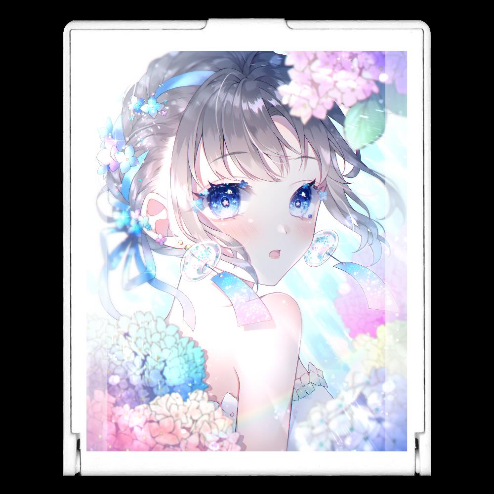 紫陽花 ミラー スクエアミラー