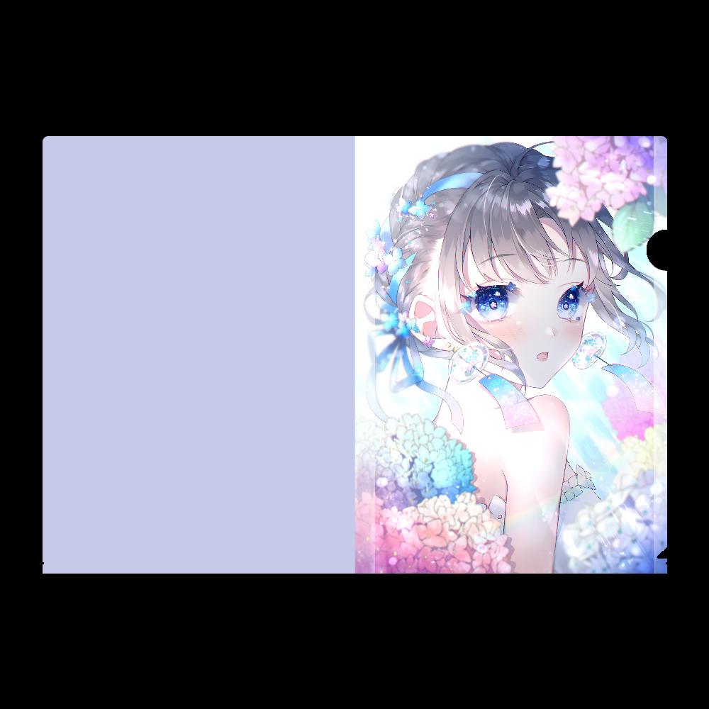 紫陽花  クリアファイル A4フルグラフィッククリアファイル