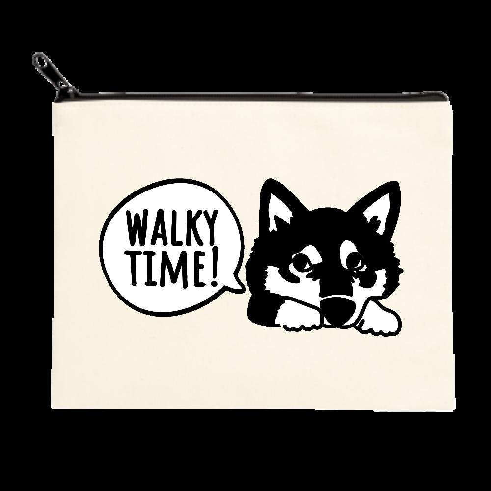 柴犬のお散歩アピール ポーチ(M)