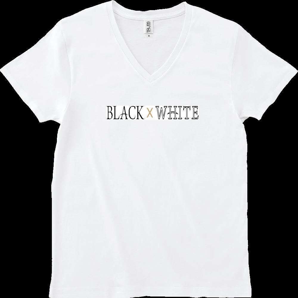 BLACK×WHITE VネックTシャツ スリムフィット VネックTシャツ