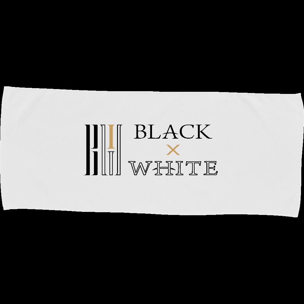 BLACK×WHITE フェイスタオル カラーフェイスタオル