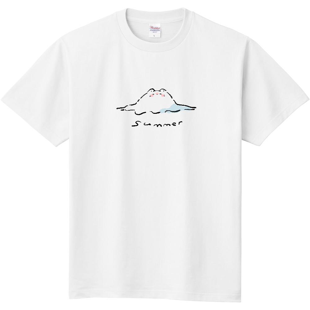 溶けてるねこちゃんTシャツ 定番Tシャツ
