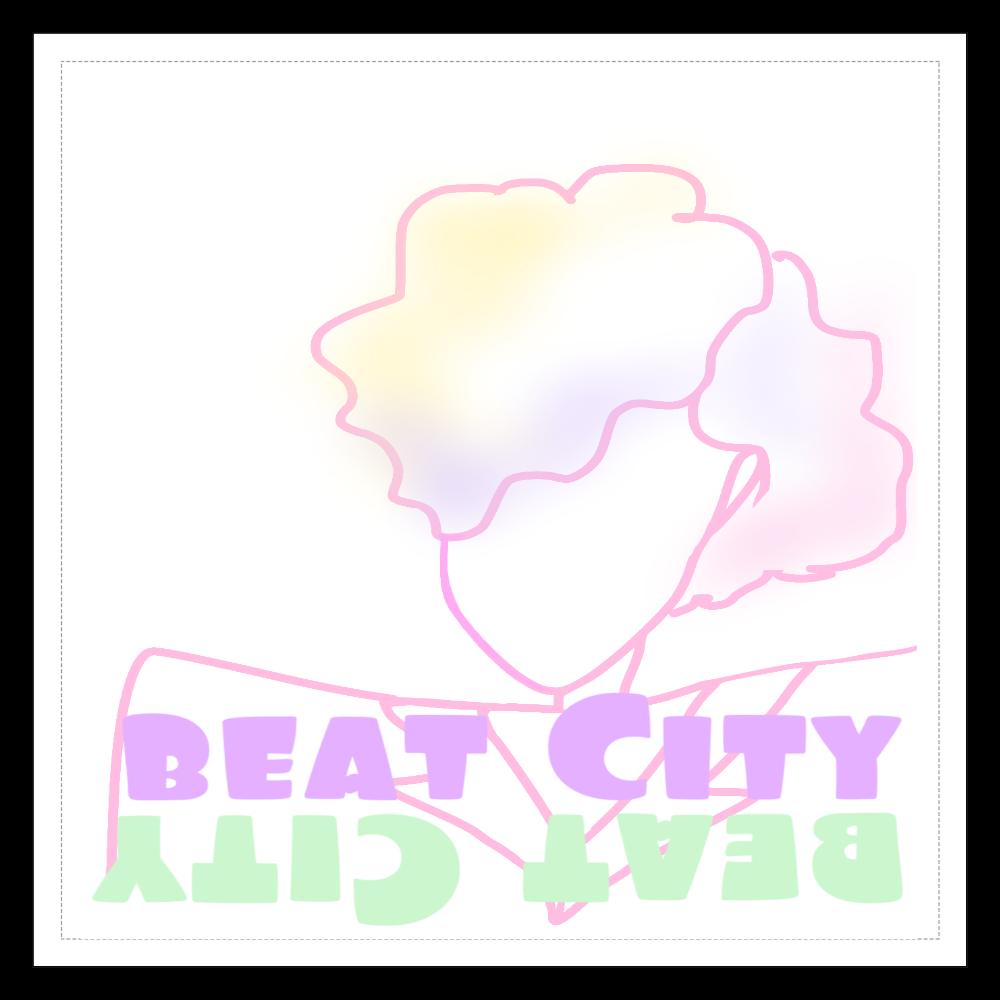 Beat City 100mmクリアステッカー・シール 透明 100mmクリアステッカー・シール