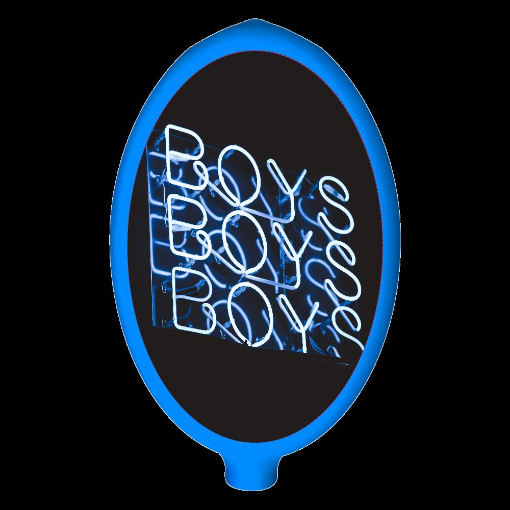 ラバーコインケース ブルー BOYS ラバーコインケース