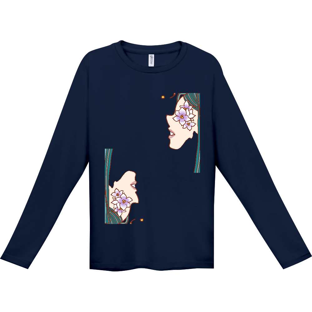 花咲く2裏表ドライロングTシャツ インターロック ドライ長袖Tシャツ