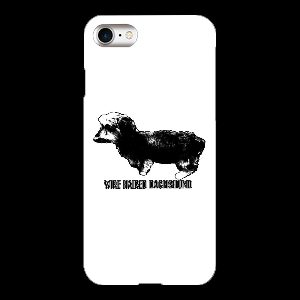 iPhone8ケース犬ワイヤーダックス iPhone8(白)