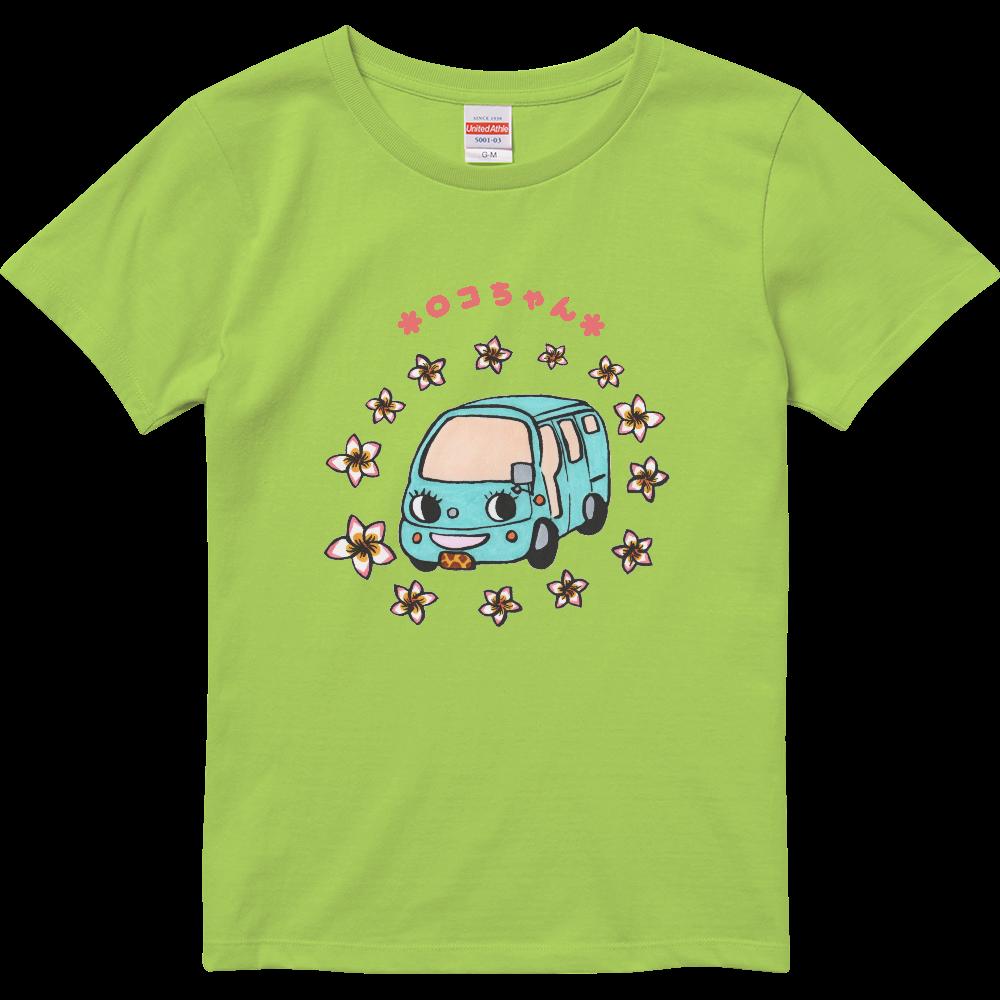ロコちゃん・ハイクオリティTシャツ(ガールズ)(花囲い)※カラー選択可 ハイクオリティーTシャツ(ガールズ)