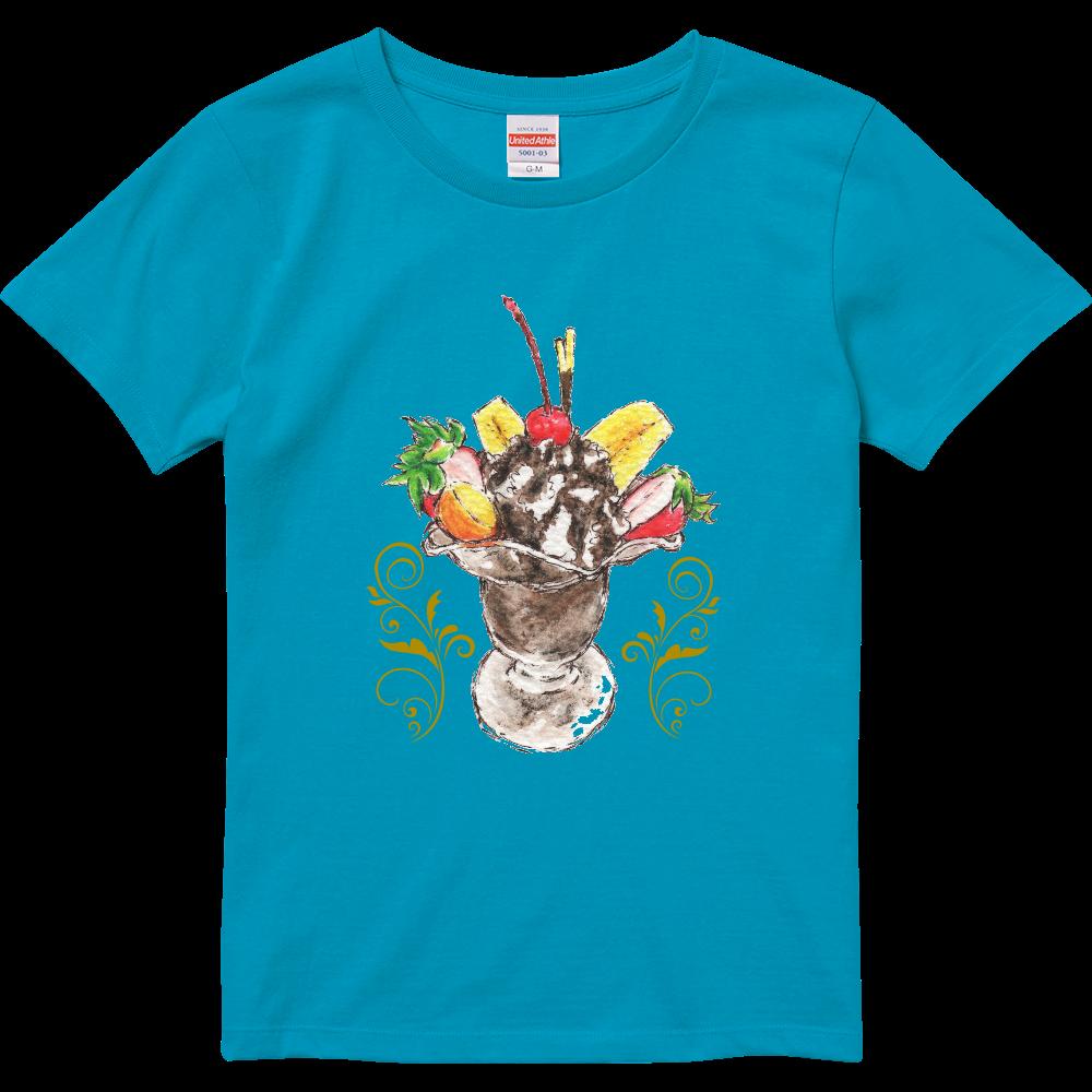 チョコレートパフェ(背景無し)ハイクオリティTシャツ(ガールズ)※カラー選択可 ハイクオリティーTシャツ(ガールズ)