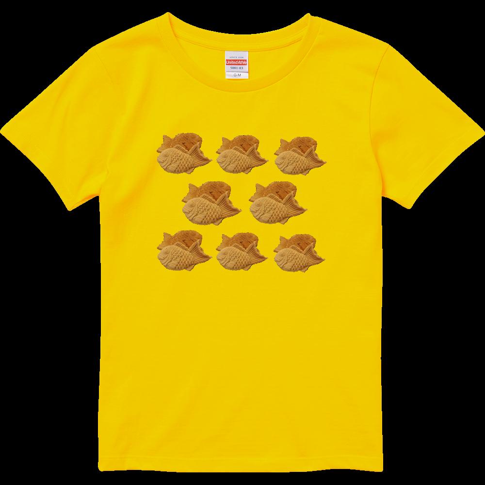 たい焼き(写真)・ハイクオリティTシャツ(レディース)※カラー選択可 ハイクオリティーTシャツ(ガールズ)