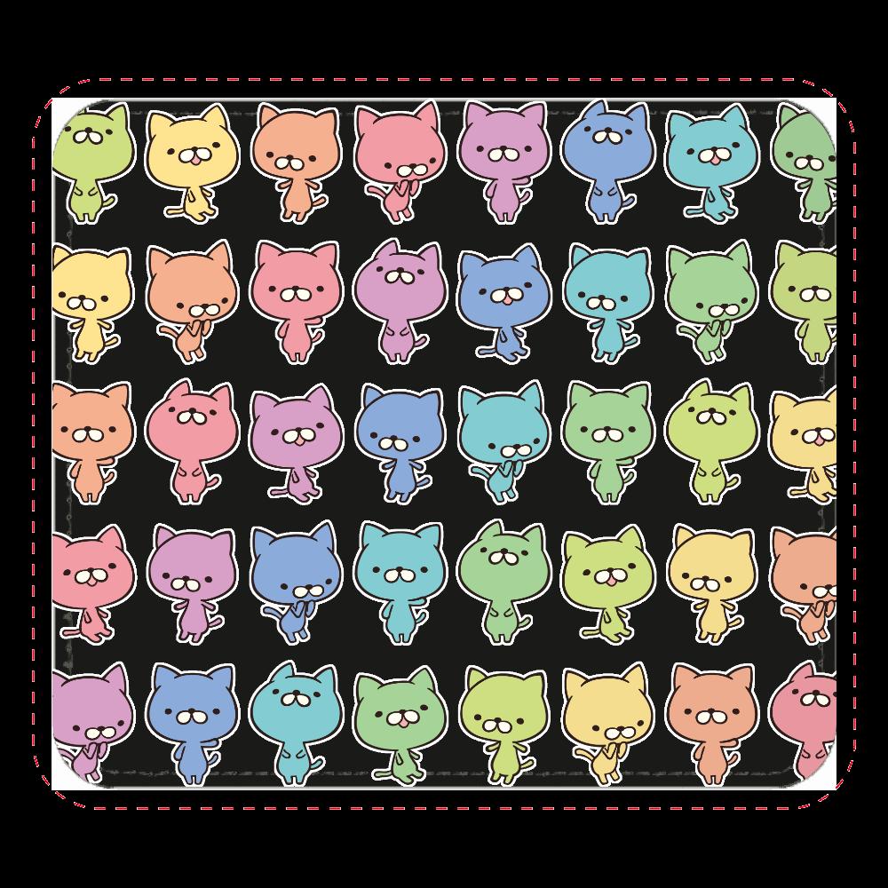 カラフル猫パッド レザーマウスパッド(スクエア)